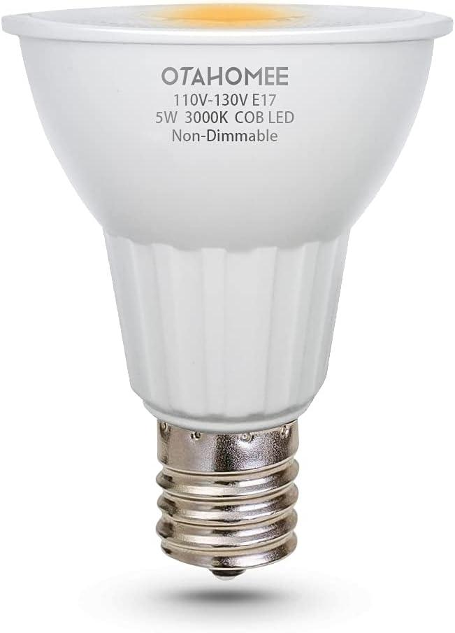 OTAHOMEE E17 5W Spotlight LED Ba Bulb Intermediate 1 year Be super welcome warranty 110V-130V