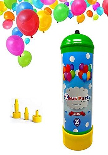 Zeus Party Bombola di Elio per Gonfiare Palloncini - Bomboletta per Gonfiare Fino a 35 Palloncini in Lattice che Vengono Forniti in Omaggio