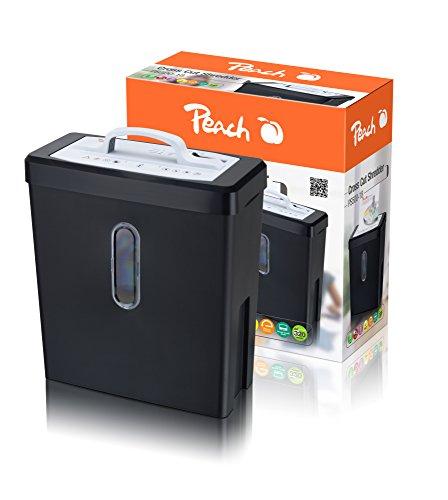 Distruggi Documenti Peach PS500-18 Cestino da 18 Litri Taglio Carta A4 Trasversale e Carte Di Credito