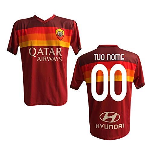 Maglia Replica Calcio Home Rossa Nome Numero Personalizzata Personalizzabile AS Roma 2021 Totti Dzeko Pedro ZANIOLO CRISTANTE PELLEGRINI Adulto e Bambino
