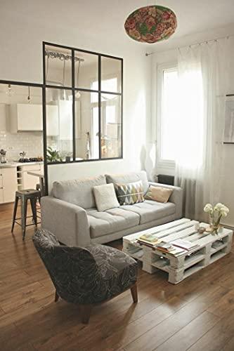 Tavolino in pallet piallato e levigato colore Bianco dim. 120 x 80 cm arredo country stile moderno funzionale bello e confortevole- made in italy- marchio registrato