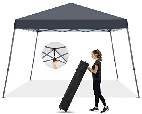 MASTERCANOPY Pop Up Canopy Tent,Outdoor Portable Canopy,Beach Canopy with Wheel Bag(10x10,Dark Gray)