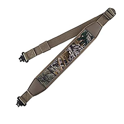 BOOSTEADY Two Point Rifle Gun Sling with Swivels,Durable Shoulder Padded Strap,Length Adjuster