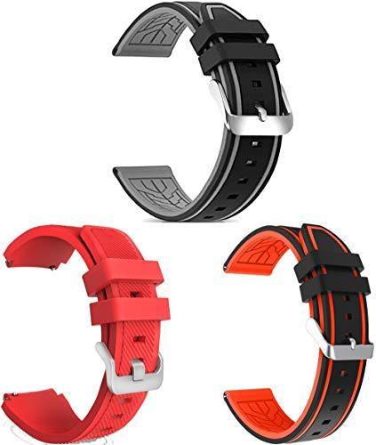 NeatCase Compatible con Garmin Vivoactive 4 (45MM) / Legacy Saga Darth Vader (45MM) / Legacy Hero First Avenger (45MM) Correa de Reloj, Banda de Reemplazo Silicona Suave Sports Pulsera (22mm, 3PCS A)