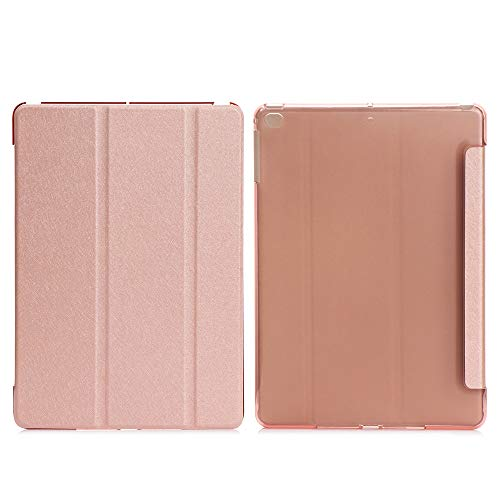 1pc New Silk Pattern Auto Sleep/Wake Protective Shell Leather Smart Tablet Cover Case(pro10.5/ipad air3 10.5,rose gold)