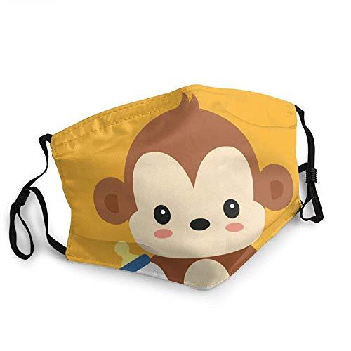 Mascarillas faciales transpirables lindo mono bebé unisex gorro bucal deportes al aire libre entrenamiento...