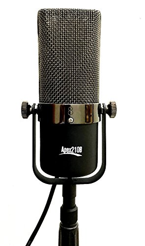 Apex Apex210B Large Element Ribbon Recording Figure-8 Microphone with Padded Deluxe Carry Bag and Aluminum Case