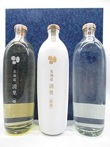 [ギフト] 北海道 清里 じゃがいも焼酎 700mlの飲みくらべ3本セット ギフト箱入り