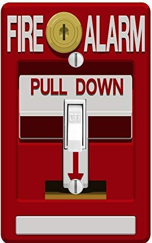 PP4U - Funda para interruptor de luz, diseño de alarma de incendio