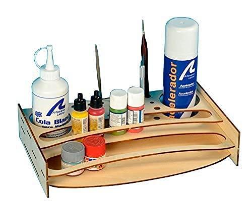 Artesania Latina 27648-P - Organizador de Pintura, Kit de Madera, Herramientas
