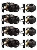 Probrico Oil Rubbed Bronze Door Knobs with Single Cylinder Deadbolts Exterior, keyed Alike Handleset Combo...