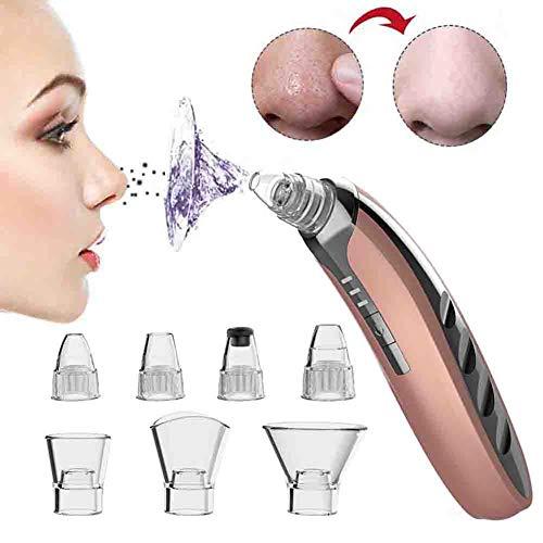 Aspirateur Blackhead Remover Professional Aspirateur Point Noirs comédons Extractor Nettoyant Pore facial avec 7 Tête de rechange et d'aspiration à 3 niveaux,1