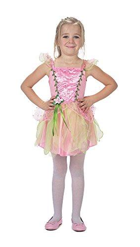 Caritan - 480017 Déguisement Fille 3/ 4 ans composée D'une Robe de Fée/ Princesse Rose avec Décor Floral