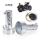 EFORCAR 2pcs de escape de la motocicleta de alta calidad db Killer Silenciador Ajustable de escape Silenciador 48mm