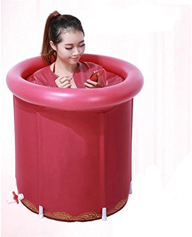 Bathtub Folding Bathtub Adult Bathtub Bathtub Thickening Warm Bathtub Fumigation Inflatable Bath Tub 65  70 Cm Inflatable bathtub
