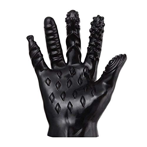 LEXPON Maennlich Weiblich Massage Werkzeug Weiche Flirten Massage Sex Handschuhe Maenner gerippte neckende Handschuhe