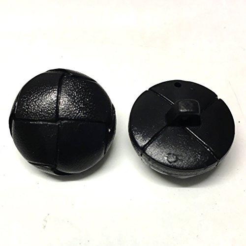 10 pak 20mm zwarte tweed effect jas knoppen