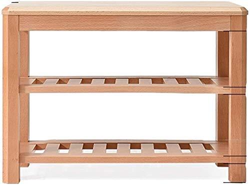 Zapato estante de madera de 2 estantes estante de múltiples funciones del almacenamiento de las heces for vestuarios, pasillos, entradas, dormitorios modificar Banco de zapatos que soportan el peso de