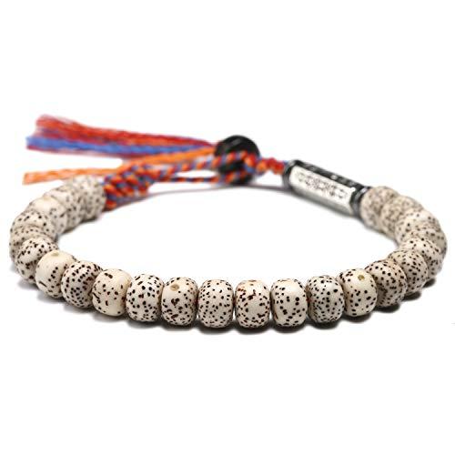 Handmade Tibetan Buddhist Beaded Bracelet   Cotton Thread Six Ture Mantra Prayer Bead   For Luck Love Meditation Friendship   Men Women Unisex (Bodhi Seed)