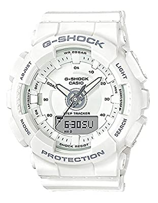 Casio Unisex Watch White Resin G-Shock S Series GMAS130-7A from
