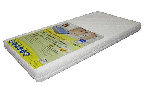 ARO Schlafschön Matratze nachhaltig-BIO-Vlies antimonfrei,belüfteter Kaltschaumkern,BW-Bezug,70x140