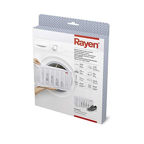 Rayen n 34 x 16 x 19 cm Lavadora y Secadora lavandería para Calzado | Bolsa Protectora Reutilizable para el Lavado de Zapatos, Blanco