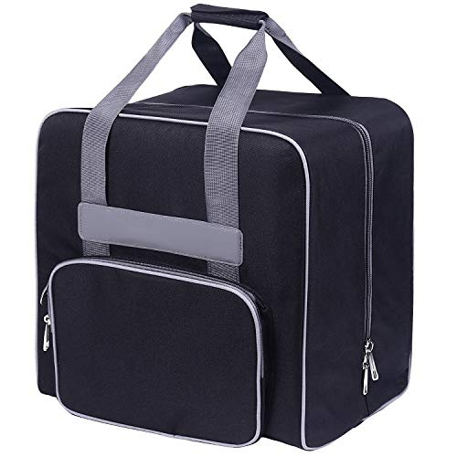 BabySnap Overlocktasche Größe 39 x 32 x 36 cm (Schwarz Uni, M)