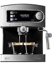 Cecotec Power Espresso 20 - Machine à Café, Acier Inoxydable, Reservoir 1,5 L, 850 W, Acier/Noir [Efficacité énergétique Clase A]