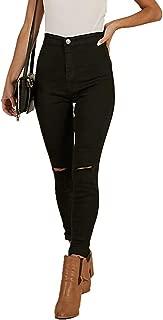 TENGFU Women's Juniors Skinny Jeans Mid-Rise Distressed Slim Fit Stretchy Jegging Denim Pants