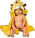 Alenyk toalla niño bebe recién nacido 70X90 poncho de 0-2 años albornoz capucha tridimensional león absorbente ducha piscina baño algodón orgánico
