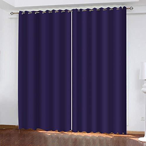 XDJQZX Cortinas Opacas Termicas Aislantes con Ojales 2 Paneles 260 X 240Cm Impresión Púrpura con Estilo 3D para Salón Dormitorio Habitacion Decoración De La Ventana, Aislantes Termicas