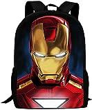 Mochila de Iron Man, impresión 3D, superhéroe, mochila escolar, alta capacidad, tejido de...