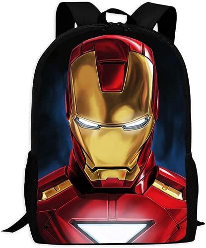 Iron Man, zaino con stampa 3D, per bambini, in tessuto di poliestere ad alta capacità, adatto per bambini e ragazzi, Iron Man4, 28x14x40cm, Zainetto per bambini