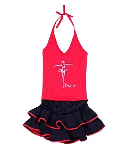 HornetPark Red Baby-Weste Tanz-Rock-Latin/Sport-Kleid