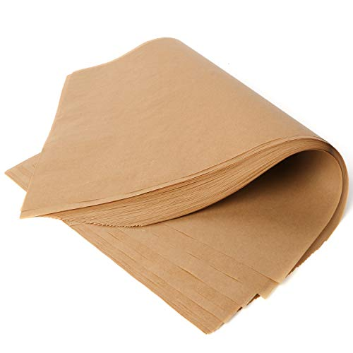 Scotamalone Parchment Paper for Baking Unbleached Baking Sheets 8x12 Inches (100 Sheets) Non-Stick Precut Baking Parchment for Baking Grilling Air Fryers Barbecue Steam Cookie Patty