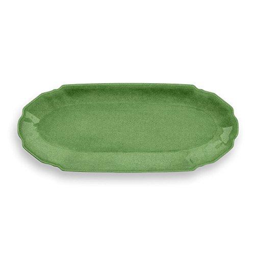 Emporio Zani Touch Mel York Assiette Rectangulaire Sandwich/Sushi/café Vert 100% mélamine