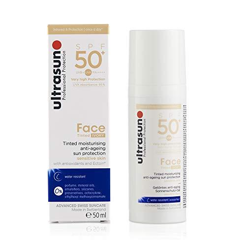 Ultrasun Face Tinted SPF50+ Ivory Sonnenschutz-Gel, 1er Pack (1 x 150 ml)