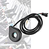 SALALIS Sensor Auxiliar, Sensor de Asistencia de Pedal de Bicicleta, Sensor Hall, Negro, GND, a Prueba de Polvo, Rojo, 5 V para Bicicletas eléctricas