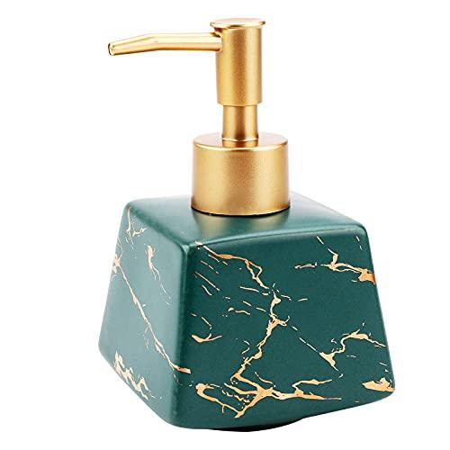 Dispensador de jabón de cerámica, botella de prensa champú para manos, dispensador de líquido...