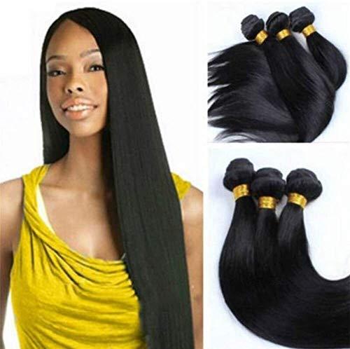 Human pruik Pruik Simulatie Hair Gordijn rechte strook Real Hair Gordijn Womens Pruiken Natural pruik (Color : 12 inch straight bar 100g)