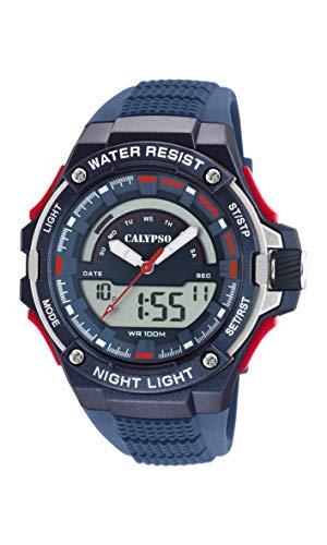 Calypso Watches Orologio Analogico-Digitale Quarzo Uomo con Cinturino in Plastica K5768/3