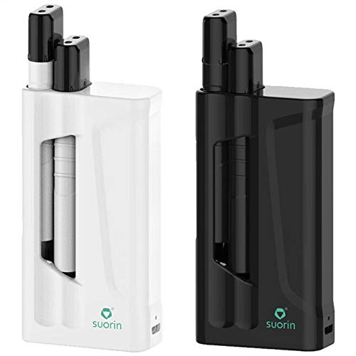 Suorin iShare 1,8ml (2x0,9ml) 130mAh Dual Kit mit 1400mAh Powerbank Farbe Weiss