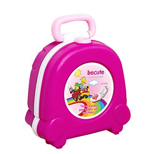 Vasino portatile da viaggio per bambini, per imparare a usare il WC, vasino per auto, colore rosa