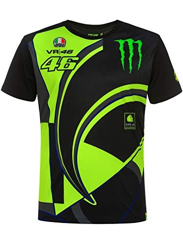Valentino Rossi Responder-Monster Dual, Tshirt Hombre, Negro, S