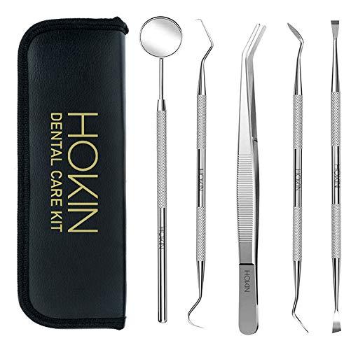 HOKIN Limpieza Dental 4 Piezas de Acero Inoxidable Blanqueamiento Dental Para Hombres, Mujeres, Niños y Mascota (5)