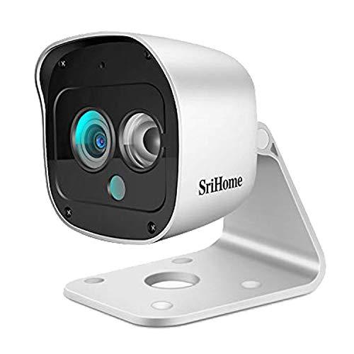 SriHome 1296P Überwachungskamera, WiFi, für den Außenbereich, IP66-wasserfest, kabellose WLAN-Webcam mit Bewegungserkennung, Nachtsicht, Zwei-Wege-Audio