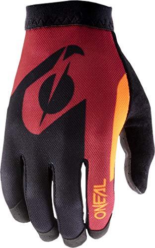 O'NEAL | Fahrrad-Handschuh Motocross-Handschuh | MX MTB DH FR Downhill Freeride | Unser leichtester & bequemster Handschuh, Nanofront®- Handpartie | AMX Glove | Erwachsene | Rot Orange | Größe S