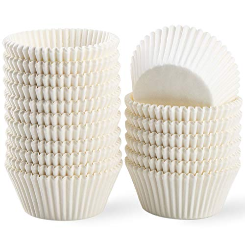 White Cupcake Liners - Grease-Proof Baking Cups Paper