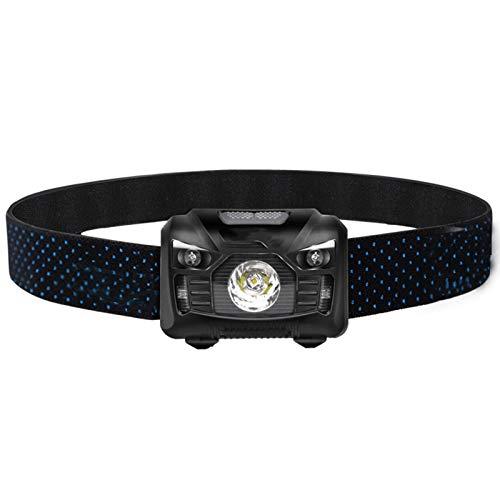 Linterna Frontal LED Linterna Frontal, 1200 mAh Batería Recargable USB Linterna Frontal Impermeable, Camping Senderismo Pesca Trabajo