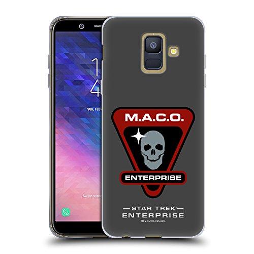 Head Case Designs sous Licence Officielle Star Trek Maco Insignes D'Univers de Miroir ENT Coque en Gel Doux Compatible avec Samsung Galaxy A6 (2018)